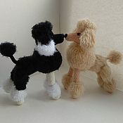 Stuffed Toys handmade. Livemaster - original item Poodle knitted dog. Handmade.