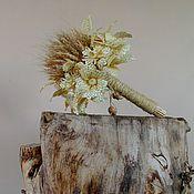 Свадебный салон ручной работы. Ярмарка Мастеров - ручная работа Букет невесты. Букет цветов.Букет из колосьев. Цветы из соломки.. Handmade.