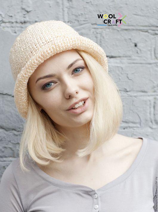 Шляпы ручной работы. Ярмарка Мастеров - ручная работа. Купить Бежевая летняя шляпа. Handmade. Бежевый, однотонный, шляпа, шляпка