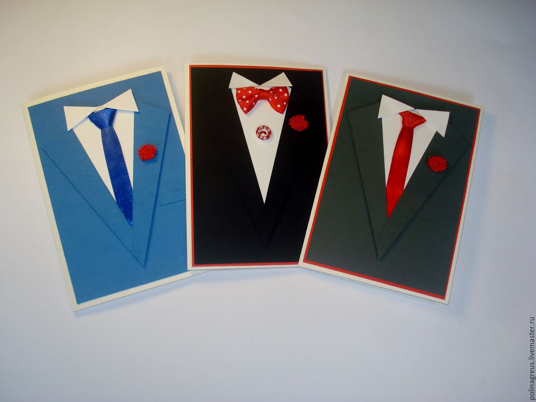 Мужская открытка ручной работы 95