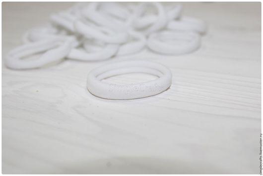 Другие виды рукоделия ручной работы. Ярмарка Мастеров - ручная работа. Купить Резинка для волос белая. Handmade. Нейлон, для хвостиков