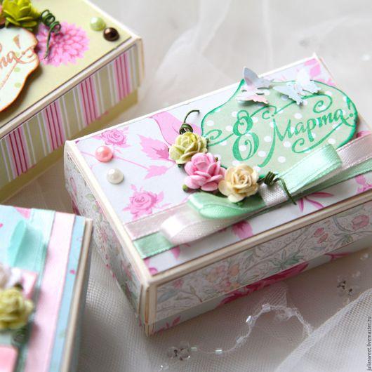 """Подарочная упаковка ручной работы. Ярмарка Мастеров - ручная работа. Купить Подарочная коробочка  """" Mini"""". Handmade. Комбинированный, для подарков"""