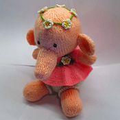 """Куклы и игрушки ручной работы. Ярмарка Мастеров - ручная работа Слоник """"Цветочек"""". Handmade."""