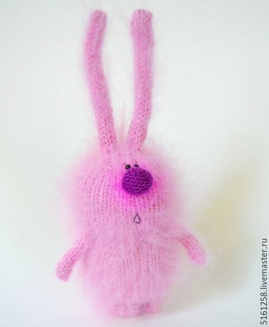 """Персональные подарки ручной работы. Ярмарка Мастеров - ручная работа. Купить Зайка """"Розовое облако"""" (Вязаные зацйы игрушки). Handmade."""