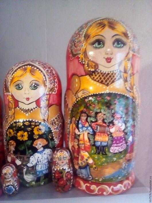 Народные куклы ручной работы. Ярмарка Мастеров - ручная работа. Купить матрешка. Handmade. Матрешка авторская, дерево липа