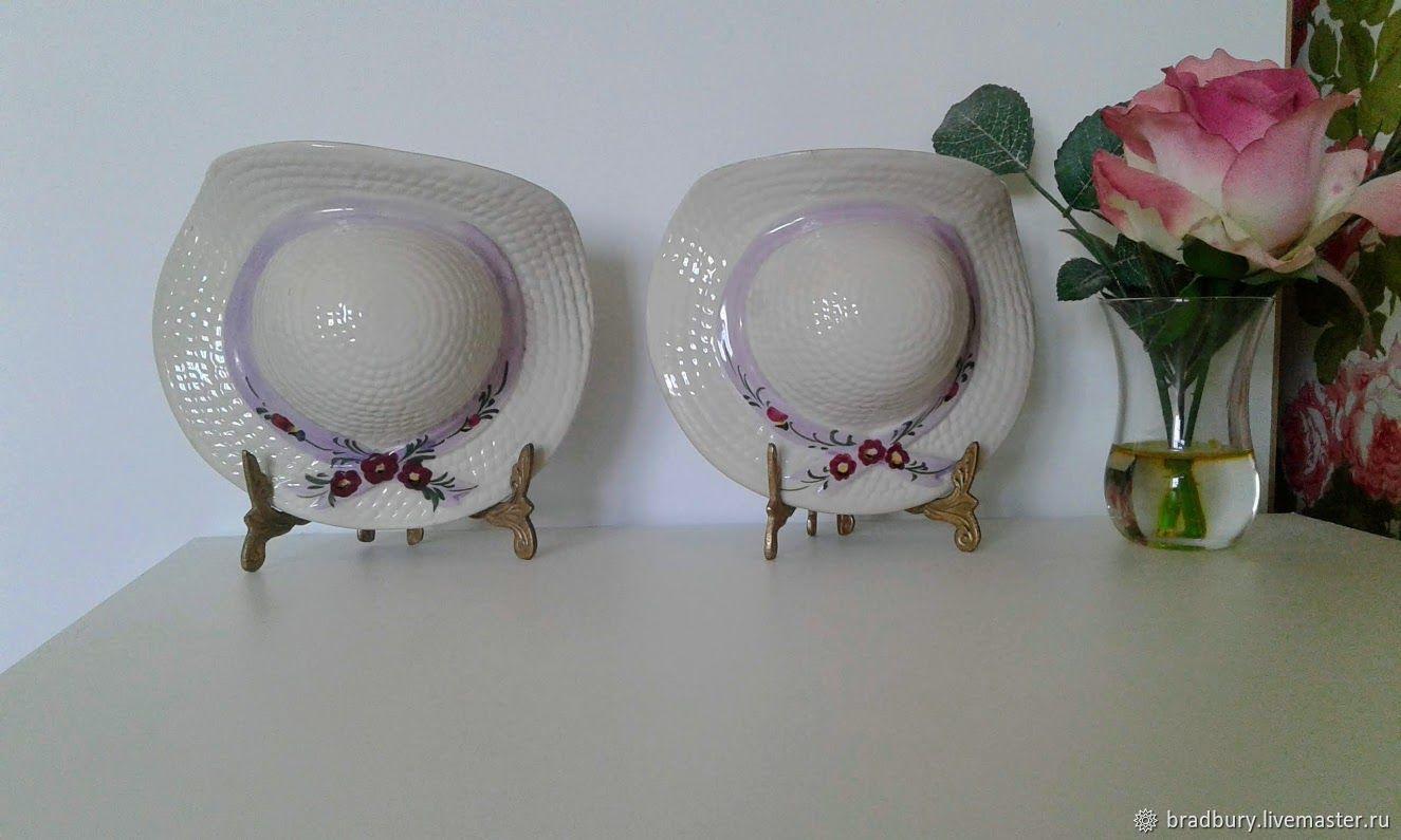 Three wall vases, pots ' Straw hat'. England, Vintage interior, Cambridge,  Фото №1