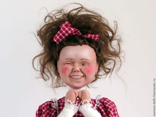 Коллекционные куклы ручной работы. Ярмарка Мастеров - ручная работа. Купить Авторская кукла. Сюрприз. Handmade. Разноцветный, красный