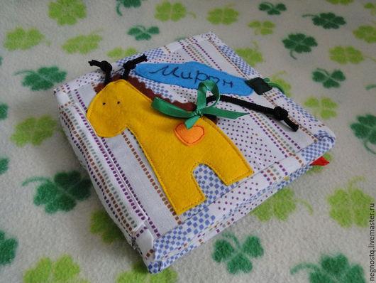 Развивающие игрушки ручной работы. Ярмарка Мастеров - ручная работа. Купить Развивающая мини-книжка. Handmade. Мятный, книжка для детей