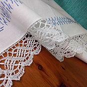 Винтаж ручной работы. Ярмарка Мастеров - ручная работа Старинная немецкая салфетка с вышивкой и ручным кружевом. Handmade.