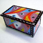 Подарки к праздникам handmade. Livemaster - original item Box of glass fusing