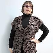 Одежда ручной работы. Ярмарка Мастеров - ручная работа Длинный кружевной жилет из мотивов. Handmade.