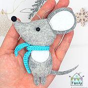 Сувениры и подарки handmade. Livemaster - original item A mouse in a scarf is a symbol of 2020. Mouse felt.. Handmade.