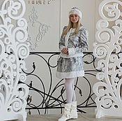 Одежда ручной работы. Ярмарка Мастеров - ручная работа Костюм Снегурочки «Морозные узоры». Handmade.