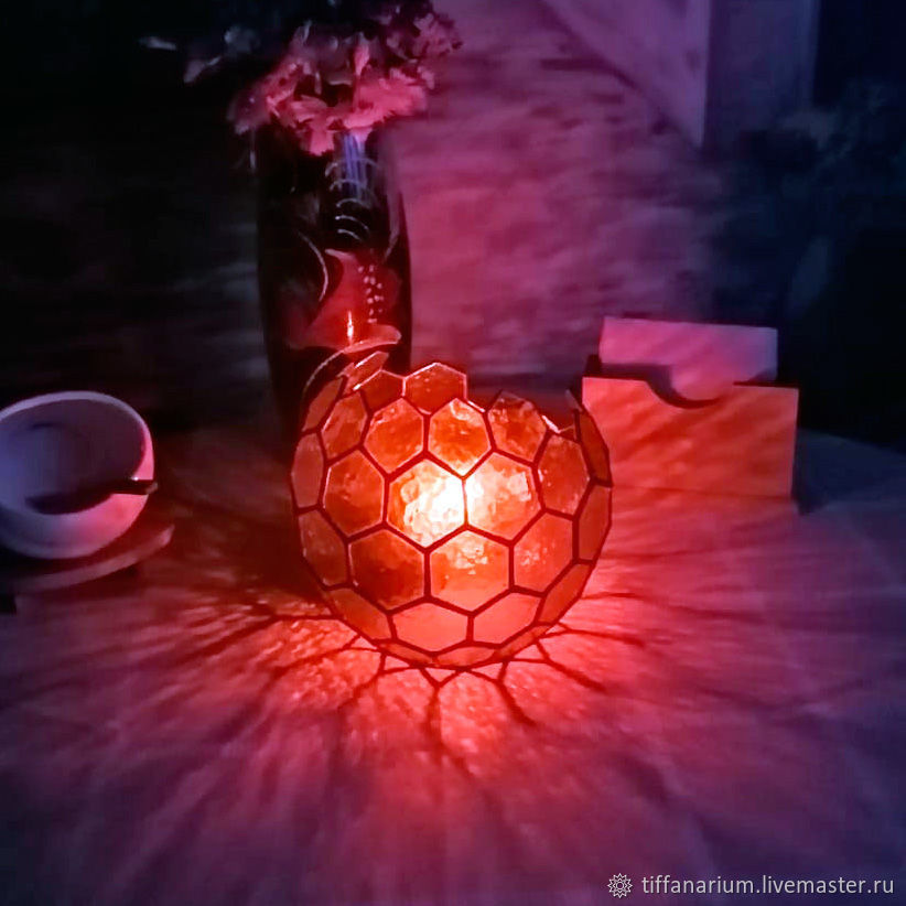 Table Geometric lamp Sphere Honeycomb, Table lamps, Magnitogorsk,  Фото №1