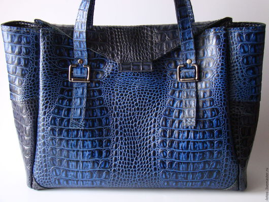 Женские сумки ручной работы. Ярмарка Мастеров - ручная работа. Купить Сумка Синий кайман. Handmade. Тёмно-синий