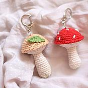 Сувениры и подарки handmade. Livemaster - original item Car souvenirs: mushroom keychain, mushroom keychain. Handmade.
