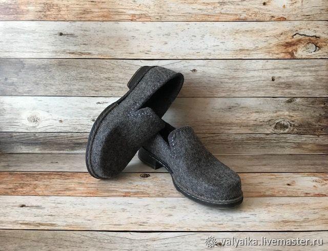 Обувь ручной работы. Ярмарка Мастеров - ручная работа. Купить Мокасины валяные. Handmade. Валенки ручной работы, туфли женские