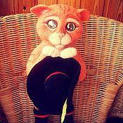 Мягкие игрушки ручной работы. Ярмарка Мастеров - ручная работа Кот в сапогах из Шрека (игрушка из войлока). Handmade.