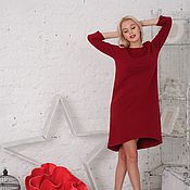 Одежда ручной работы. Ярмарка Мастеров - ручная работа Платье Бордо. Handmade.