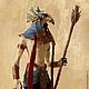 """Игрушки животные, ручной работы. Ярмарка Мастеров - ручная работа. Купить фигурка 30 см """"Гор (сокол)"""" (статуэтка Египет, бежевый). Handmade."""
