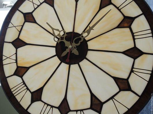 """Часы для дома ручной работы. Ярмарка Мастеров - ручная работа. Купить Часы настенные(большие) из стекла """" Старая башня"""". Handmade."""