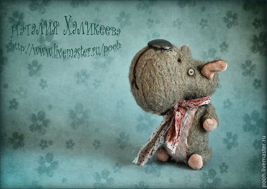 """Мишки Тедди ручной работы. Ярмарка Мастеров - ручная работа. Купить БЕГЕМОТИК """"ГОША"""". Коллекционная авторская игрушка. Handmade. Бегемотик"""