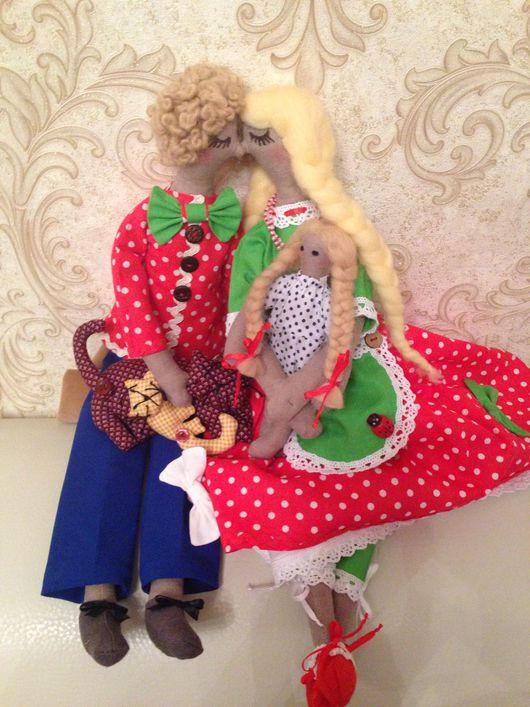 Куклы Тильды ручной работы. Ярмарка Мастеров - ручная работа. Купить Кукла Тильда,игрушки ручной работы.СЕМЬЯ!!!!. Handmade.
