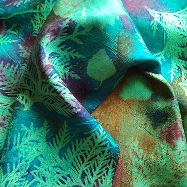Accessories handmade. Livemaster - original item Hand-dyed silk scarf