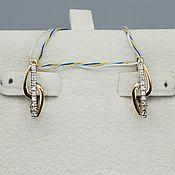 Украшения handmade. Livemaster - original item Gold diamond earrings 0,079 ct. Handmade.
