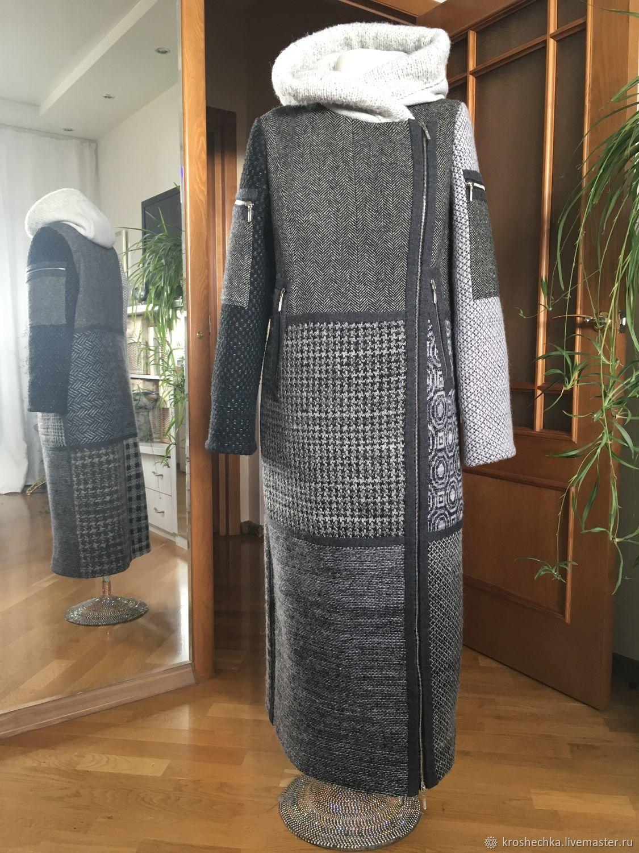 "Пальто зимнее"" Графика. Пэчворк"", Coats, Ekaterinburg,  Фото №1"