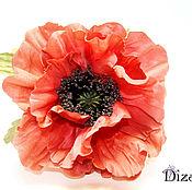 Цветы и флористика handmade. Livemaster - original item Poppy silk. Silk flowers. FABRIC FLOWERS.. Handmade.