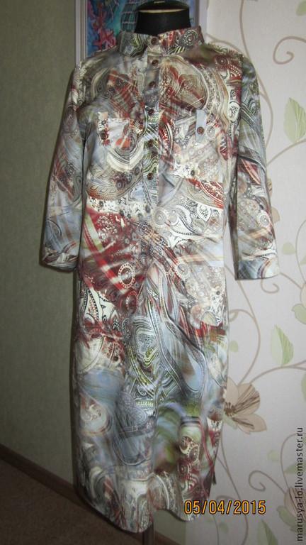 Платья ручной работы. Ярмарка Мастеров - ручная работа. Купить Платье-рубашка. Handmade. Разноцветный, хлопок 100 %