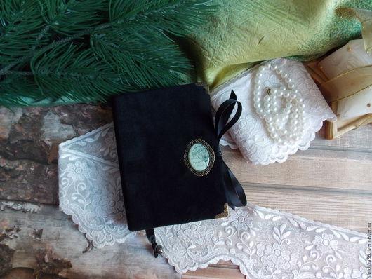 Блокноты ручной работы. Ярмарка Мастеров - ручная работа. Купить Блокнотики велюровые. Handmade. Черный, блокнот для девушки, ручная работа