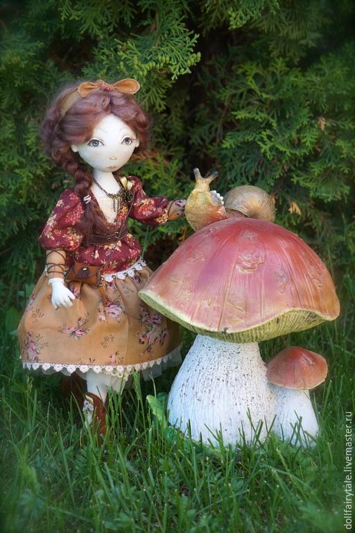 Коллекционные куклы ручной работы. Ярмарка Мастеров - ручная работа. Купить Эмма. Handmade. Коричневый, текстильная игрушка, кукла коллекционная