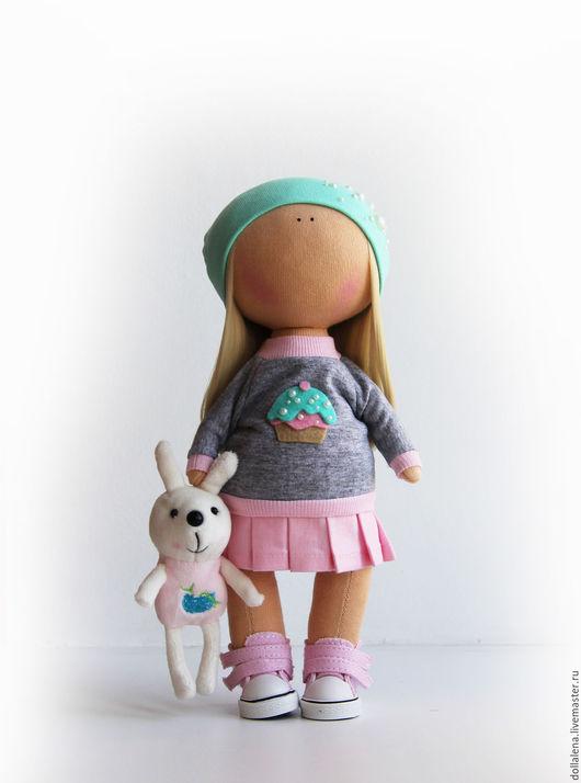 Куклы тыквоголовки ручной работы. Ярмарка Мастеров - ручная работа. Купить Интерьерная кукла ручной работы. Handmade. Бирюзовый