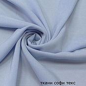 Ткани ручной работы. Ярмарка Мастеров - ручная работа Ткань штапель голубой но01. Handmade.