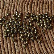 Бусины мелкие шарики 2мм 500шт ант.бронза