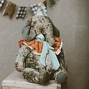 Мягкие игрушки ручной работы. Ярмарка Мастеров - ручная работа Слон Матео. Handmade.