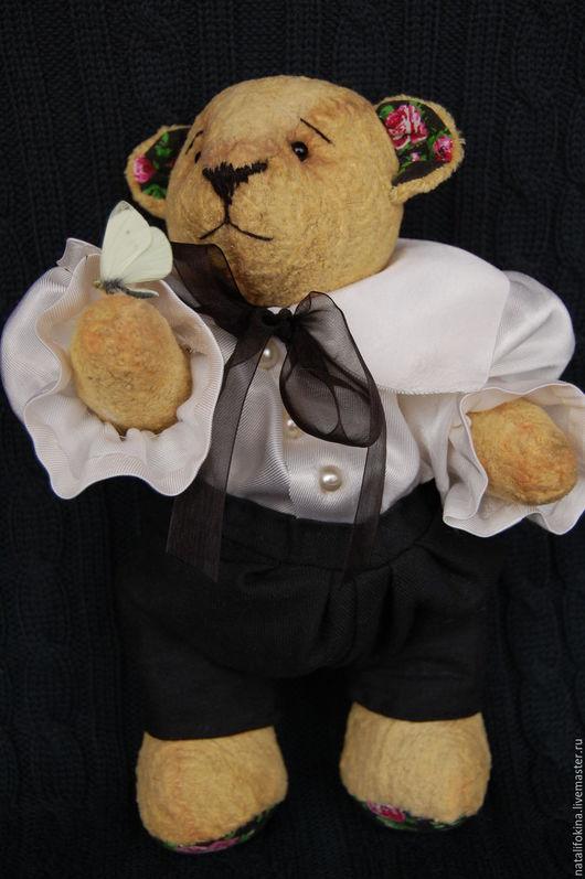 Мишки Тедди ручной работы. Ярмарка Мастеров - ручная работа. Купить Винтажный мишка тедди Пьер. Handmade. Желтый