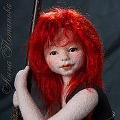 Куклы и игрушки ручной работы. Ярмарка Мастеров - ручная работа Авторская войлочная кукла Глафира. Handmade.
