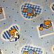 Шитье ручной работы. Ярмарка Мастеров - ручная работа. Купить Хлопок детский Мишутка 50х45 см. Handmade. Голубой