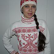 """Одежда ручной работы. Ярмарка Мастеров - ручная работа свитер """"Жива"""". Handmade."""
