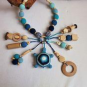 "Одежда handmade. Livemaster - original item Слингобусы с игрушкой-погремушкой "" Голубая черепашка"". Handmade."