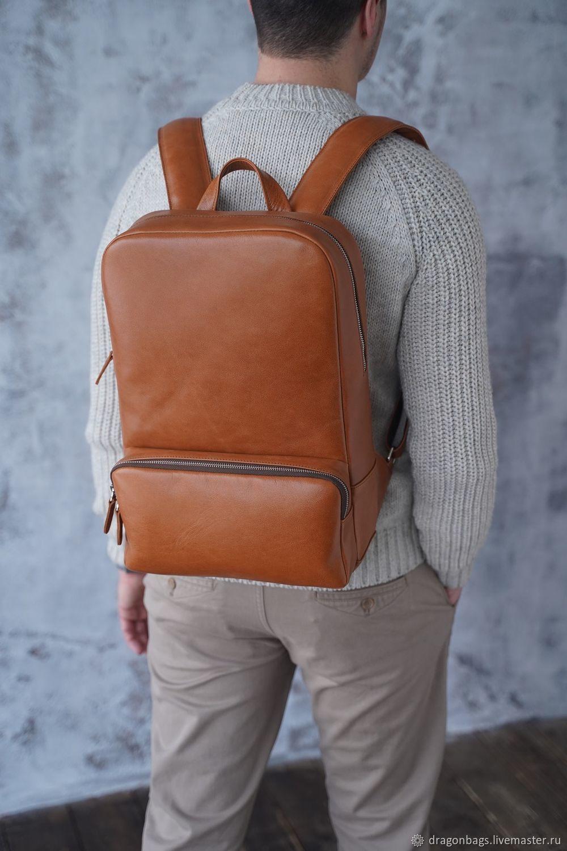 Men's leather backpack ' Roy', Backpacks, Yaroslavl,  Фото №1