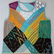 Tops handmade. Livemaster - original item Top-vest-patchwork