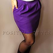 """Одежда ручной работы. Ярмарка Мастеров - ручная работа Юбка-мини """"Виолетта""""(фиолетовый). Handmade."""
