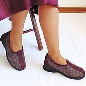 Туфли ручной работы. Ярмарка Мастеров - ручная работа Войлочные туфли для дома и офиса.. Handmade.