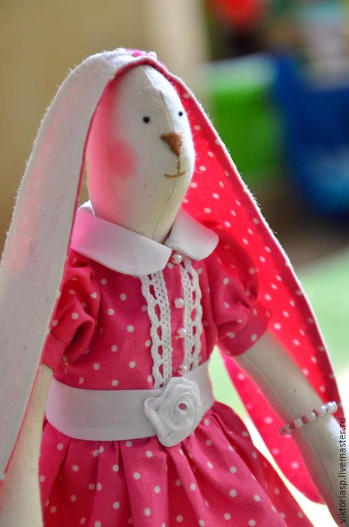 Куклы Тильды ручной работы. Ярмарка Мастеров - ручная работа. Купить Зайка в нарядном платье). Handmade. Разноцветный, подарок ребенку