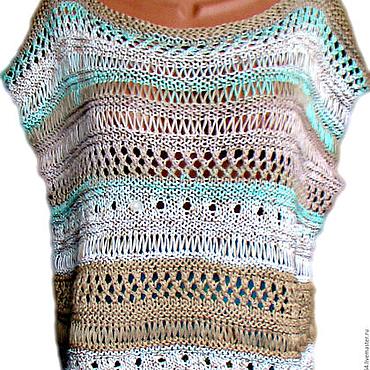 Одежда ручной работы. Ярмарка Мастеров - ручная работа Майка вязаная бохо. Handmade.