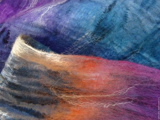 """Шали, палантины ручной работы. Ярмарка Мастеров - ручная работа. Купить Снуд валяный шарф """"Галактический"""" войлочный шарф мериносовый снуд. Handmade."""
